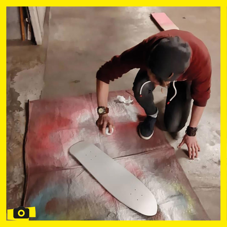 Préparation / peintune du skate