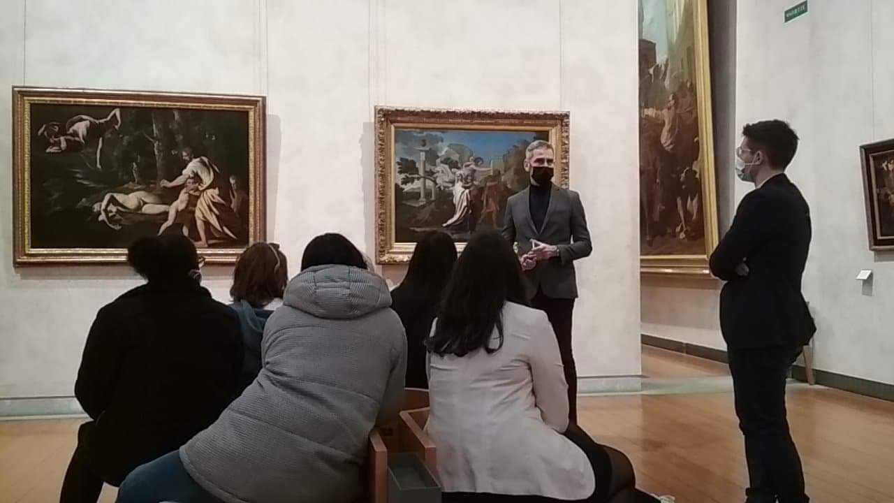 Les étudiant.es au Musée des Beaux-Arts de Lyon