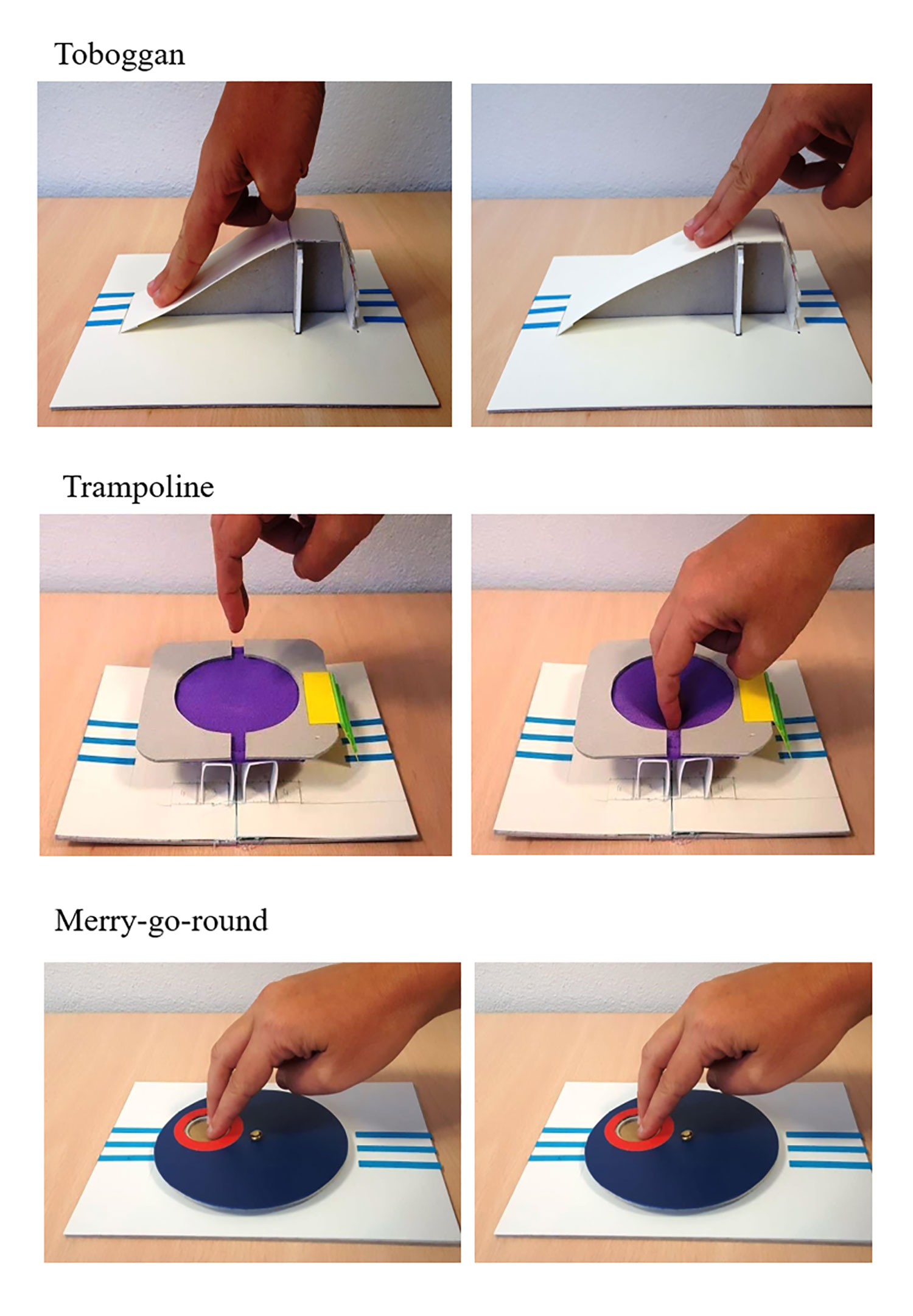 Prototypes livres tactiles