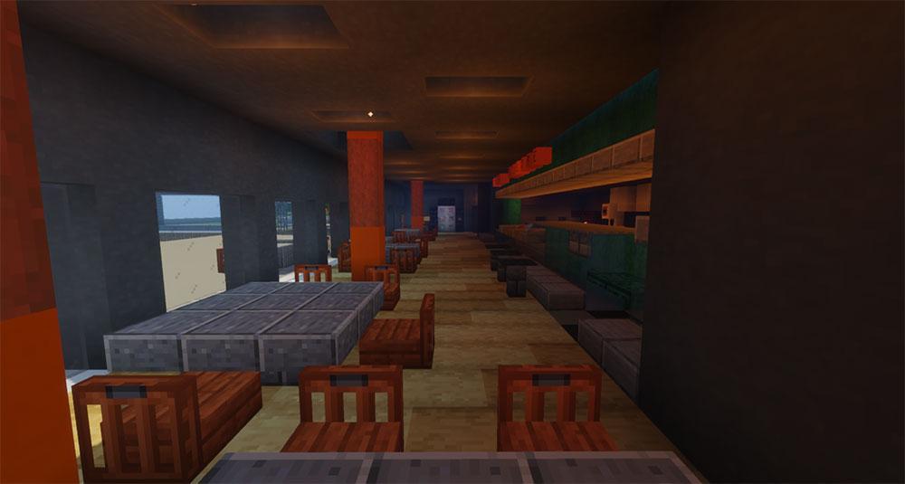 Minecraft - PdA - Café Filtre (intérieur)
