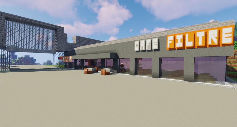 Minecraft - PdA - Café Filtre (extérieur)